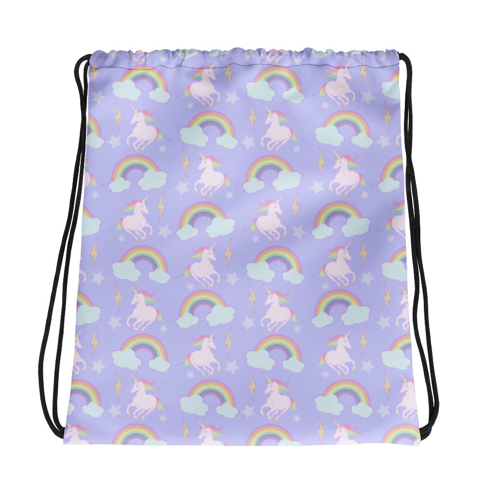 Unicorns & Rainbows Drawstring bag