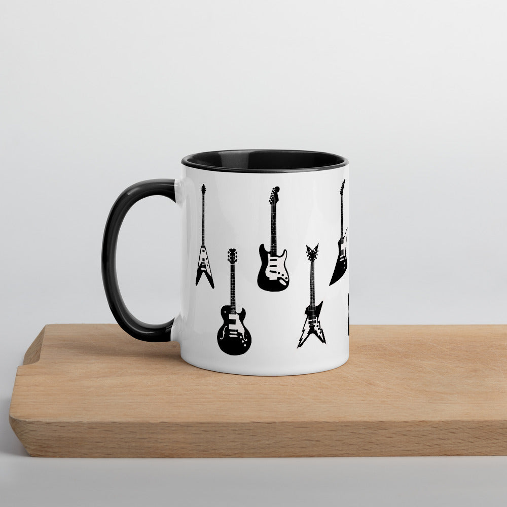 Electric Guitar Accent Mug