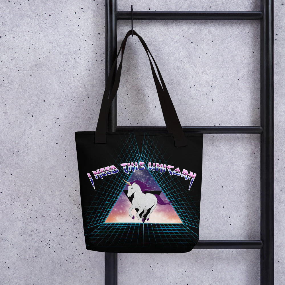 Metal Unicorn Tote bag