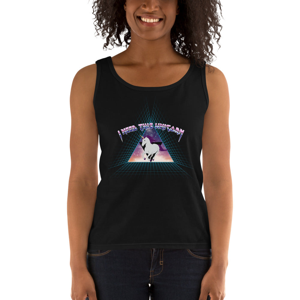 Metal Unicorn Women's Fitted Tank Top