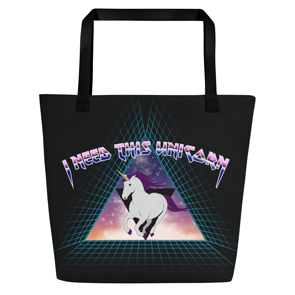 Metal Unicorn Beach Bag