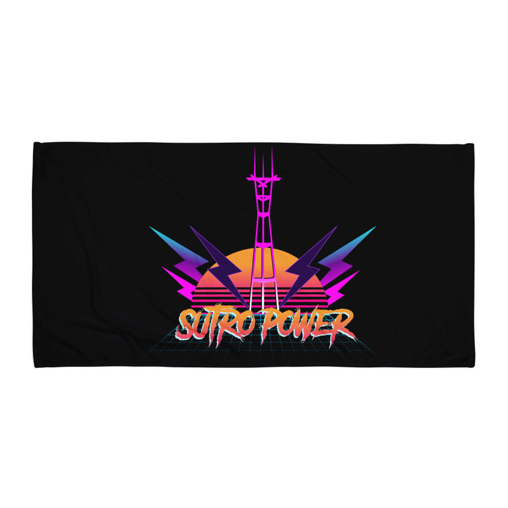 Sutro Power Ultra 80's San Francisco Beach Towel