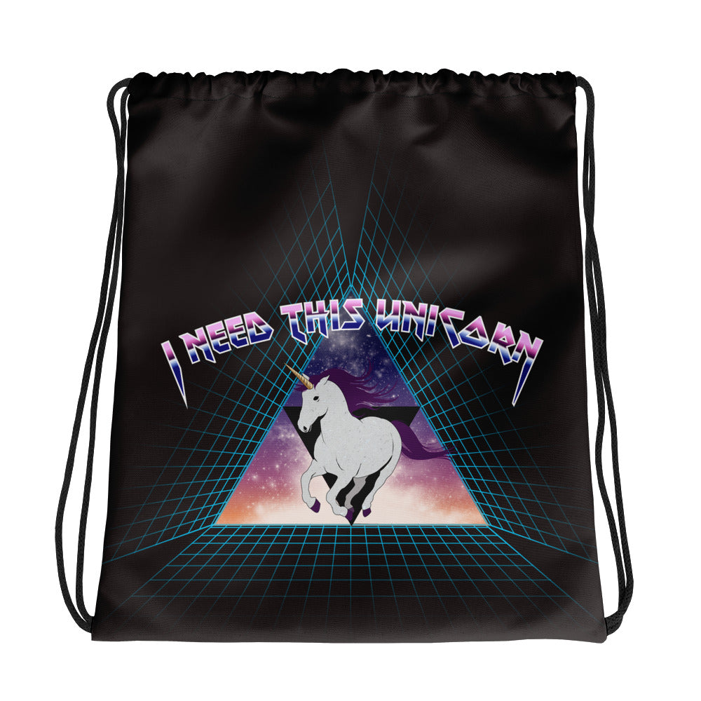 Metal Unicorn Drawstring Bag