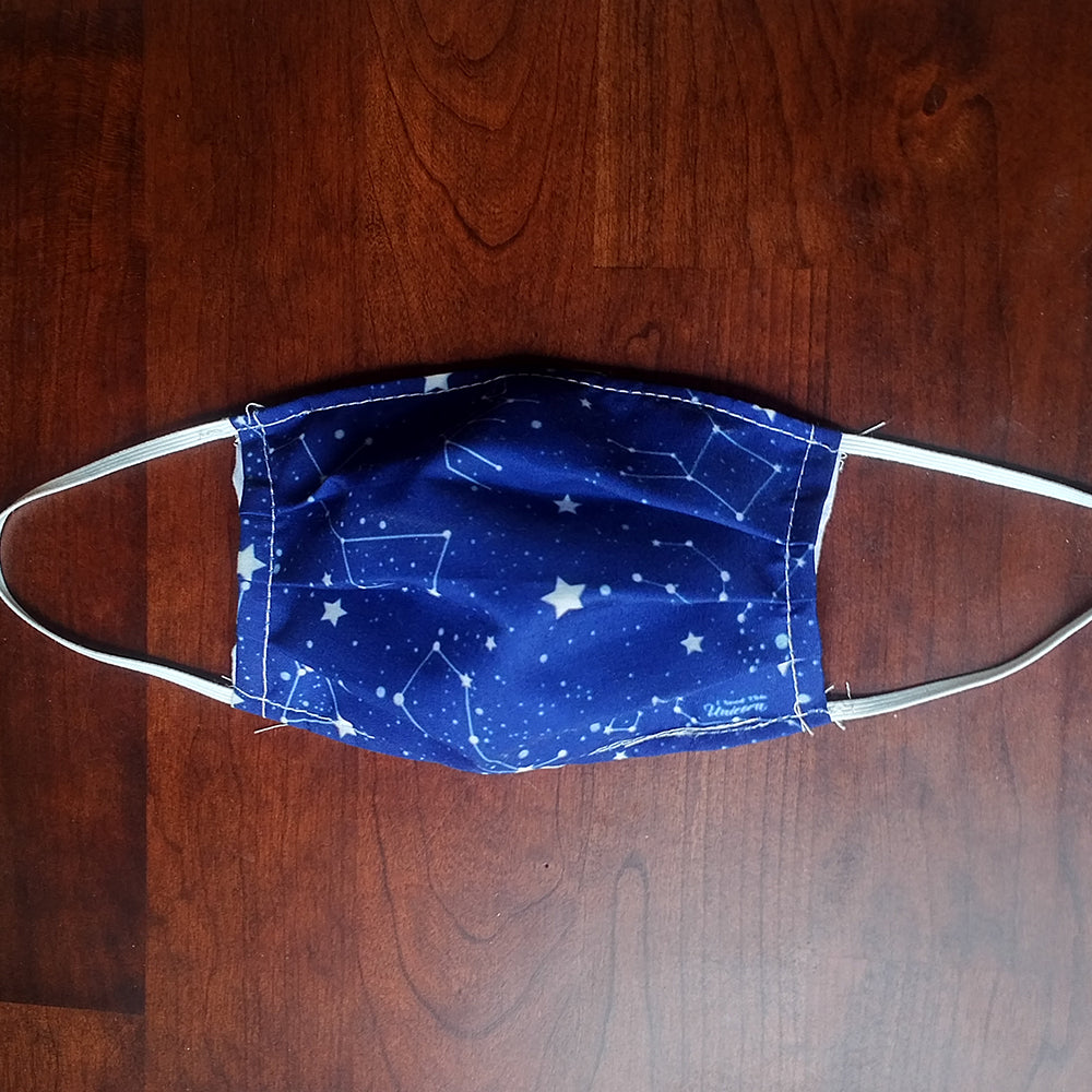Navy Constellation Face Mask Cover