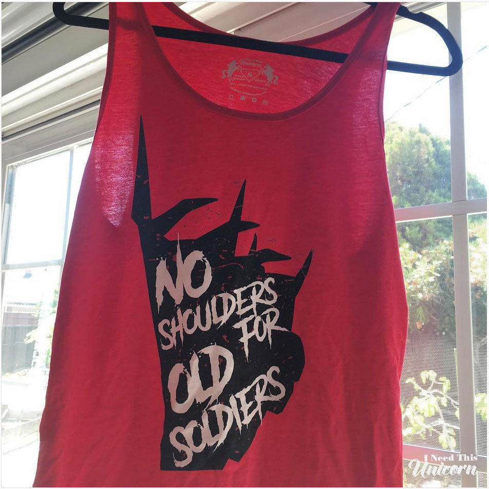 No Shoulders For Old Soldiers Tank Top