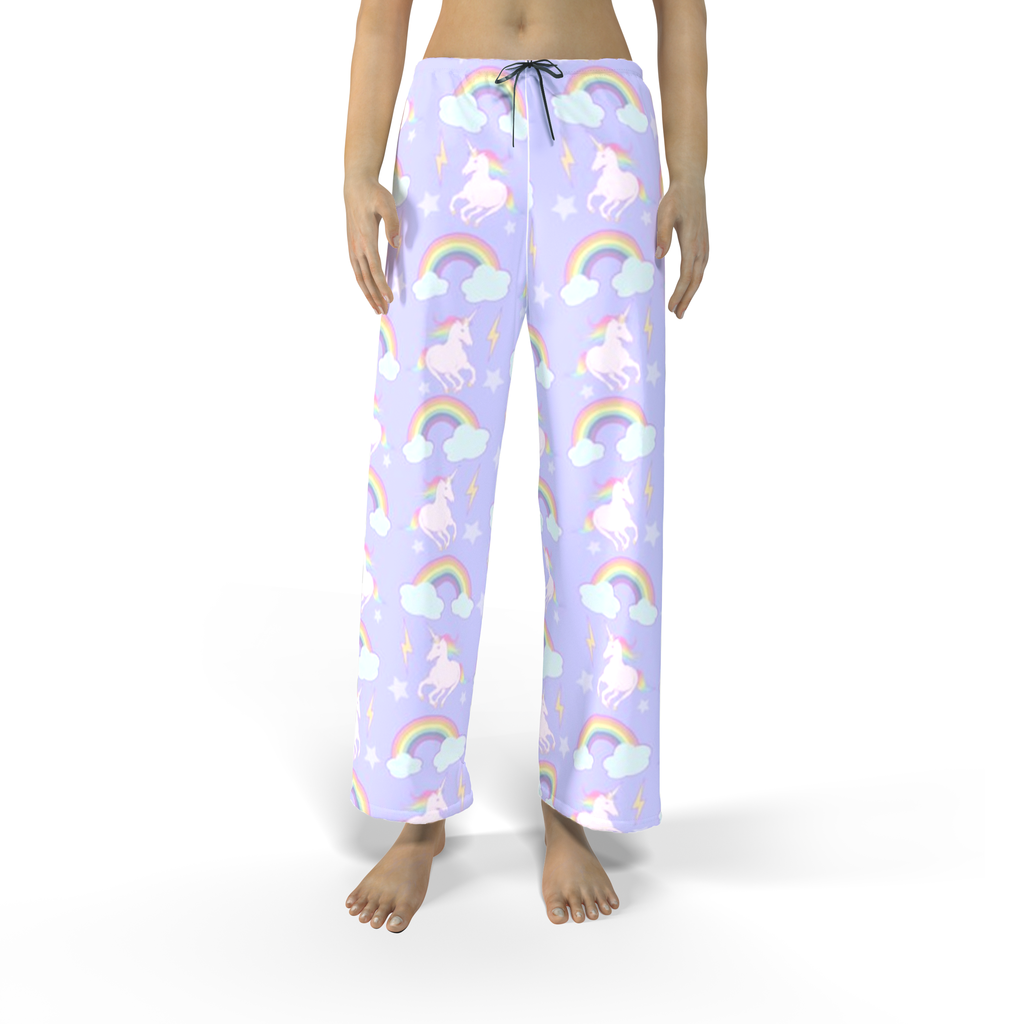Unicorns & Rainbows Big Print Pajamas (Men & Women)