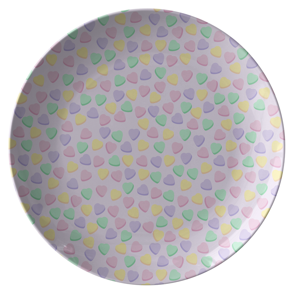 Candy Hearts Lilac Party Plate