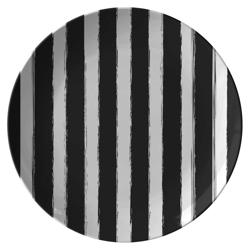 Scribbled Striped Plate