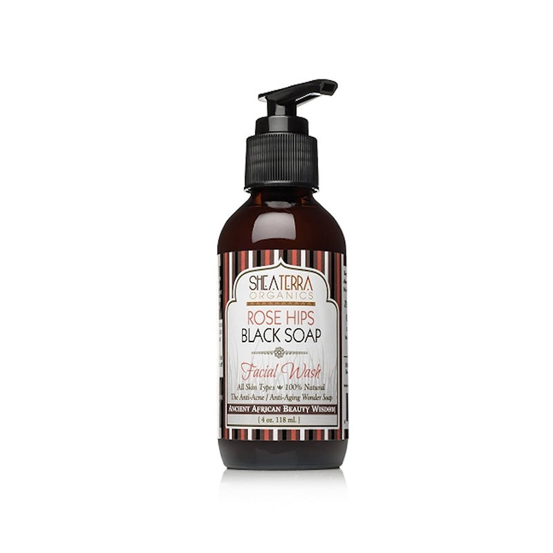 Rose Hips & Black Soap Deep Pore Facial Wash