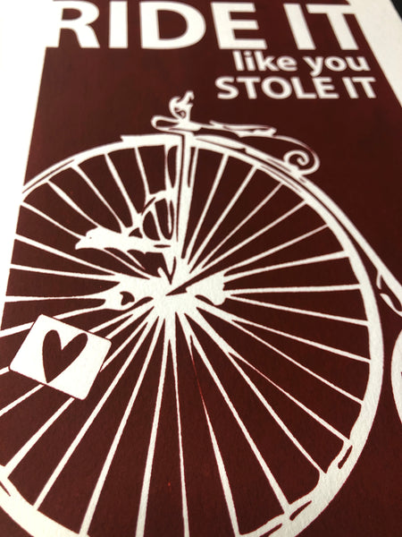Penny Farthing Screen print