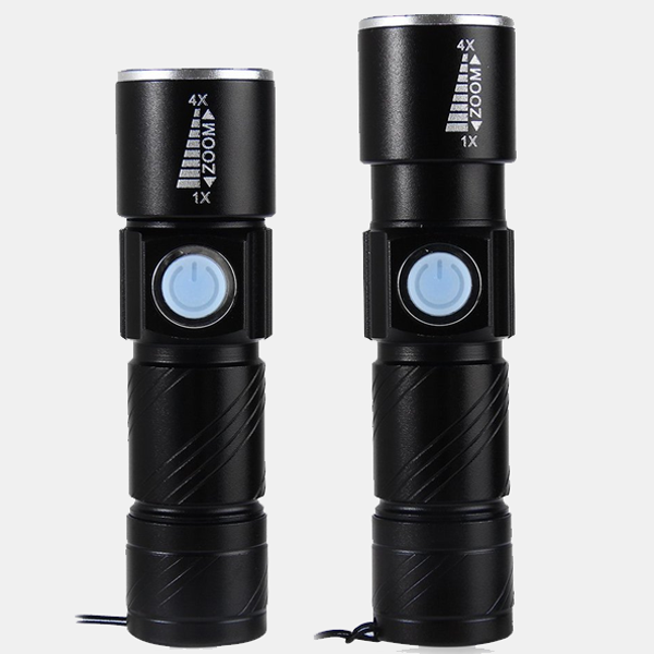 3 Mode Mini Zoom Tactical LED Flashlight