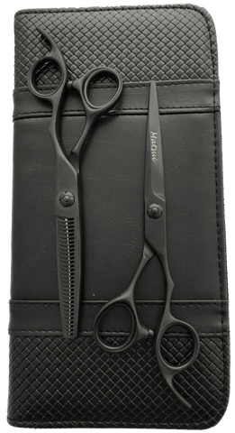 2018 Matsui Matte Black Aichei Mountain Offset Scissor Thinner Combo