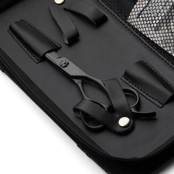 Matsui Matte Black Samurai Barbers Triple case detail