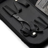 Matsui Matte Black VG10 Limited Edition Offset scissor case detail (1406154932285)