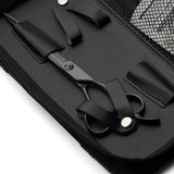 Matsui Matte Black Samurai Barbers Thinning and Blending Triple Set case detail
