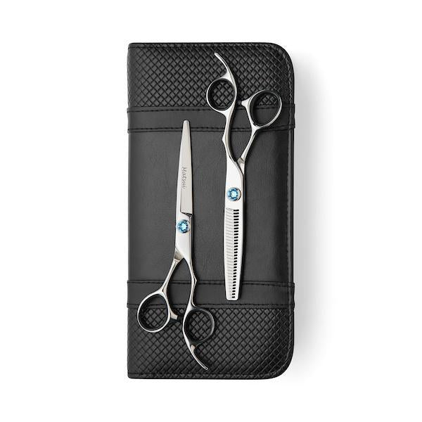 2020 Matsui Swarovski Elegance Sky Blue Scissors & Thinning Shears Combo (Limited Edition) (1693637935165)