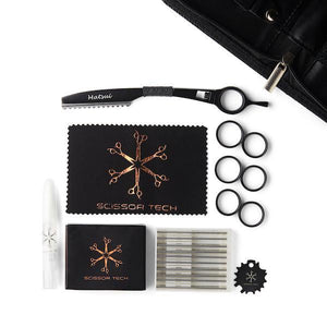Matsui Matte Black Samurai Barbers Triple accessories