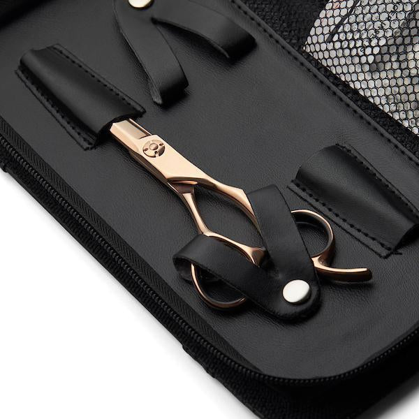 Matsui Rose Gold Aichei Mountain Offset Scissor Thinner Combo case