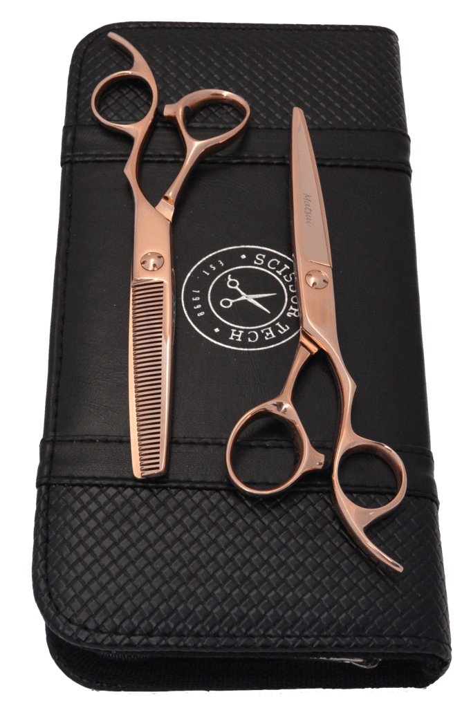 Lefty Rose Gold Offset Scissor Thinner Combo