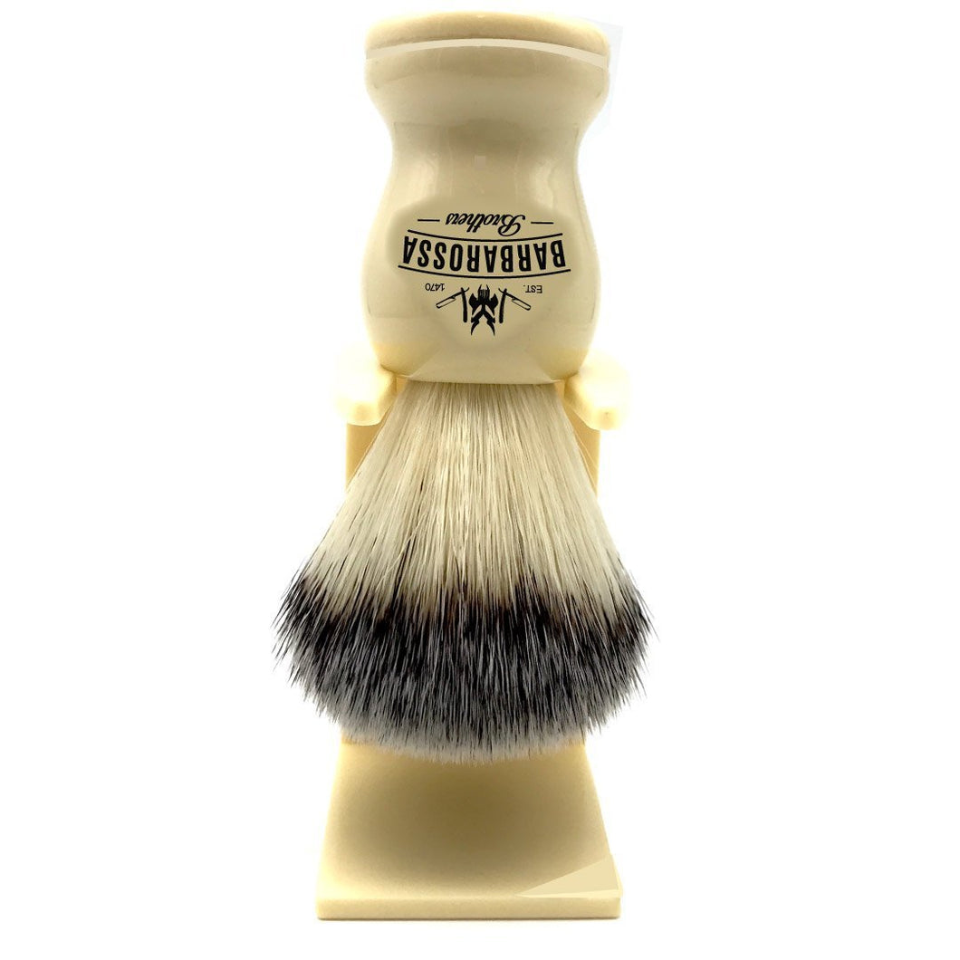 Shaving Brush Cream Synthetic w/ stand