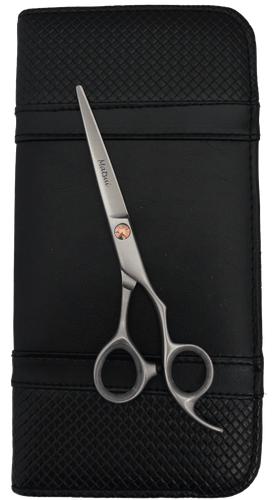 Matsui 6 Inch Satin with Rose Gold Trim Offset Scissor