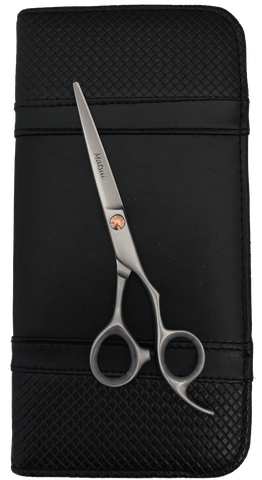 Matsui Satin with Rose Gold Trim Offset Scissor