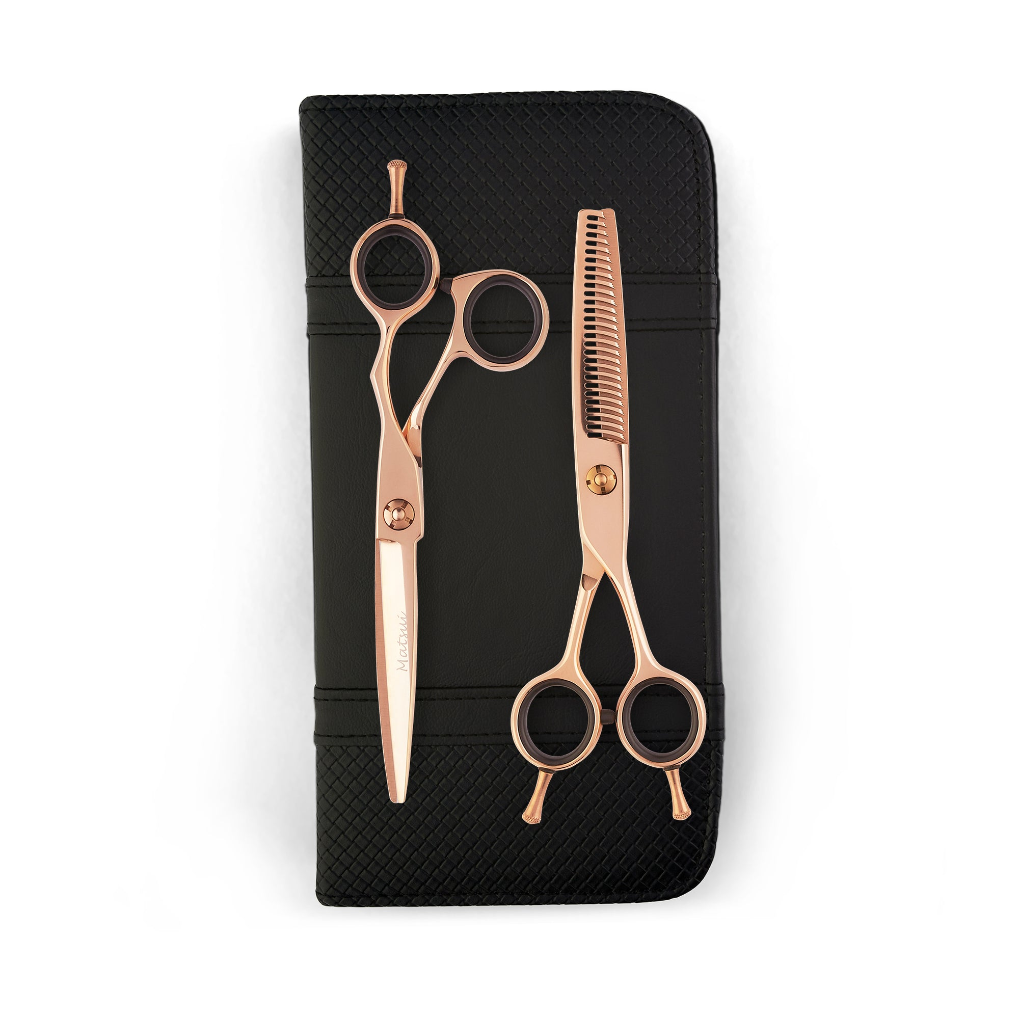 Matsui Offset Drop Handle Scissor Thinner Combo - Rose Gold (4540271231037)