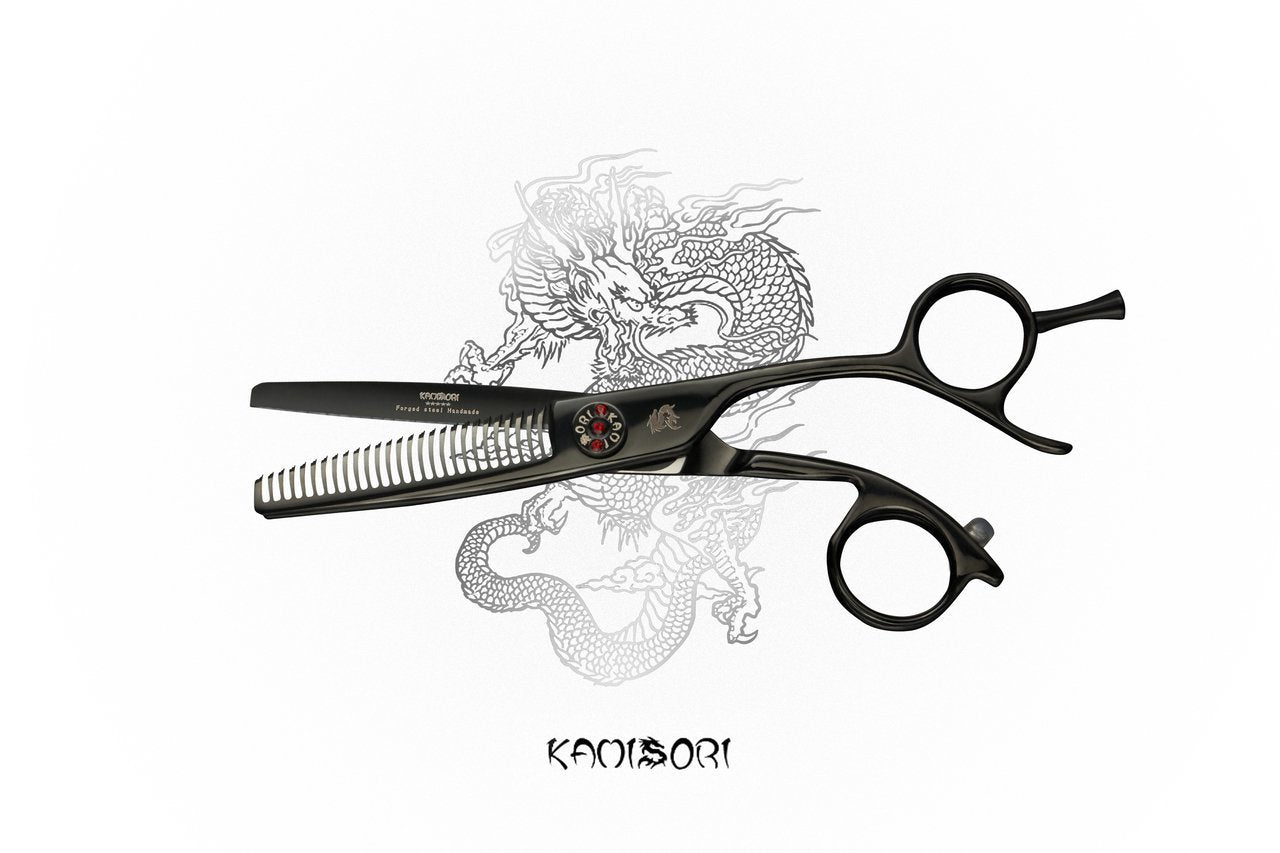 KAMISORI Black Diamond Professional Hair Texturizing Shears (752253894717)