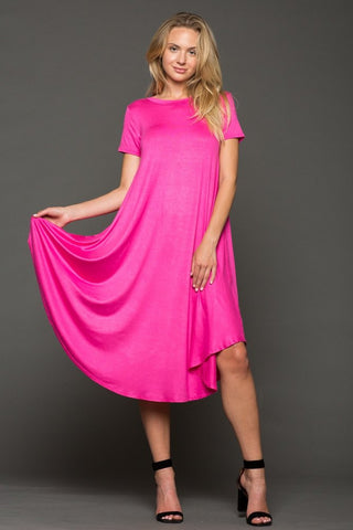 Hot Pink Swing Dress