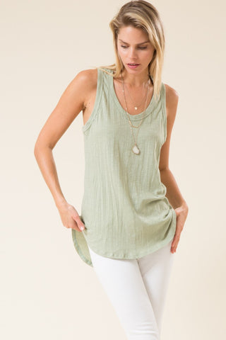 Racerback Cotton Tank