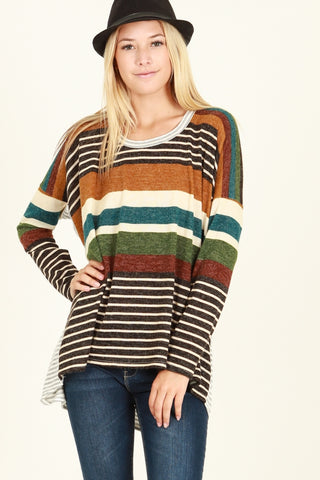 Stripe Green Oversized Top