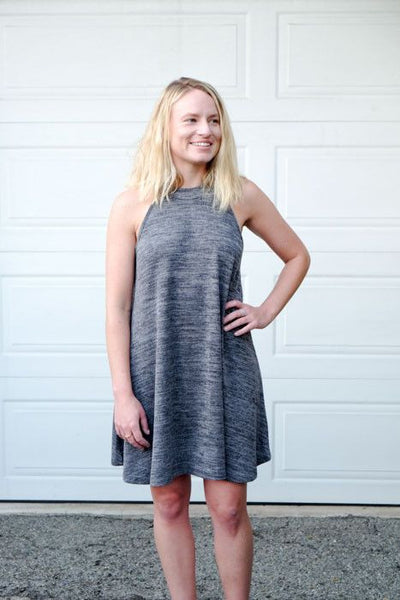 Knit Grey Sweater Dress