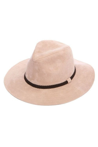 Light Pink Suede Hat