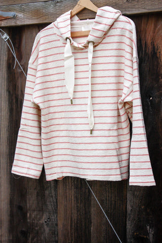 Pink Stripe Sweatshirt