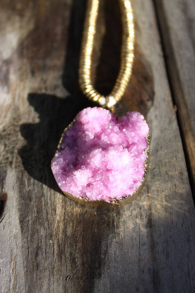 Marit Rae Pink Rock Necklace