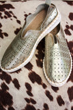 Vale Printed Metallic Slip On-Last one size 39!