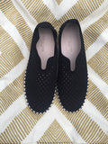 black tulip slip on, Isle Jacobsen Tulip, Ilse Jacobsen Perforated Slip On, Ilse Jacobsen Black Tulip