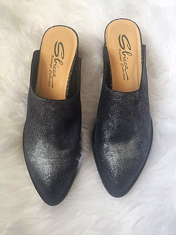 Salem Pewter Sparkle Mule