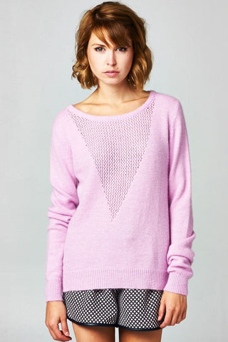Dusty Pink Honey Comb Top