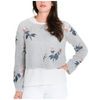 Floral Crop Sweater