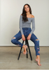 Embroidered Super Soft Jackie Denim