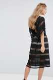 Kimono Sleeve Black Lace Dress
