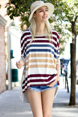 Stripe On Stripe Tee