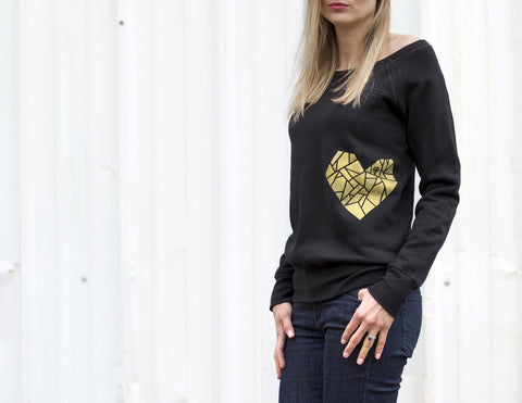 Wholeheartedly Golden Heart Sweatshirt
