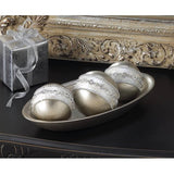 Embellished Silver Display Balls - Urbanily Lifestyle Goods