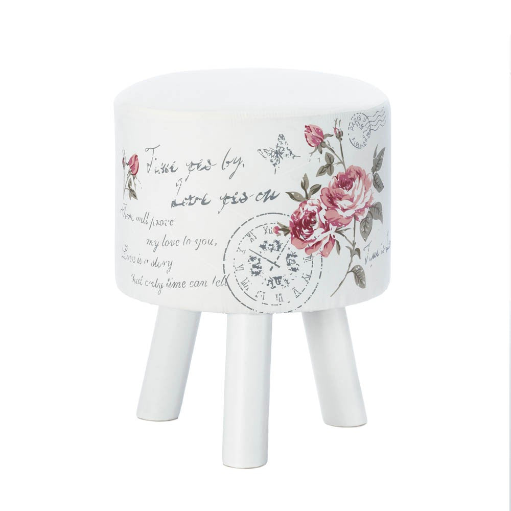 Butterfly Post White Stool - Urbanily Lifestyle Goods