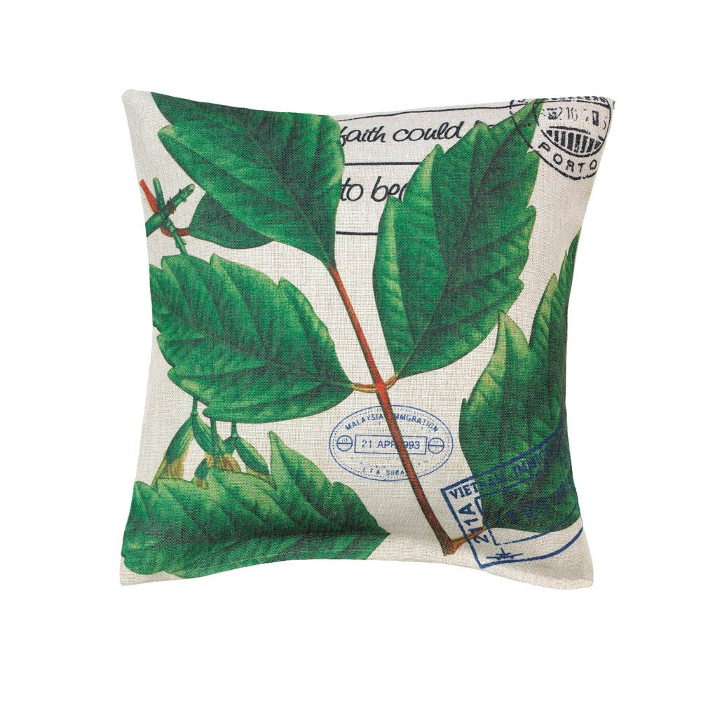 Botanical Leaves Pillow - Urbanily Lifestyle Goods