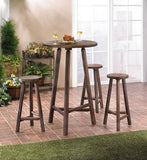 Fir Wood Bar Table And Stools Set - Urbanily Lifestyle Goods