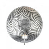 Geometric Silver Plate Wall Sconce - Urbanily Lifestyle Goods