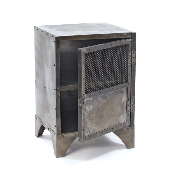 Vintage Steel Shoe Locker Side Table - Modern Industrial & Eclectic Vintage Furniture & Decor by Urbanily - Side Table